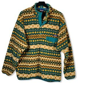 PATAGONIA Synchilla Snap-T Pullover Fleece Aztec L